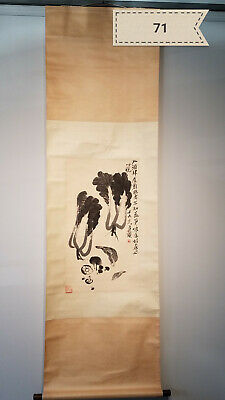Qi Baishi cabbage Antique Scroll