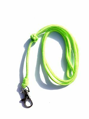 Turks Head Knot Design Lime Green Dog Whistle Lanyard - For ACME Whistle