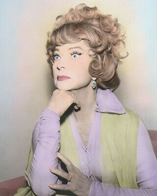 """AGNES MOOREHEAD ENDORA BEWITCHED HOLLYWOOD ACTRESS 8x10"""" HAND COLOR TINTED PHOTO"""