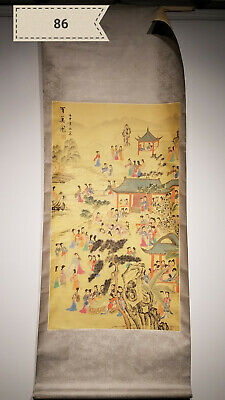 One hundred US map of silk Antique Scroll