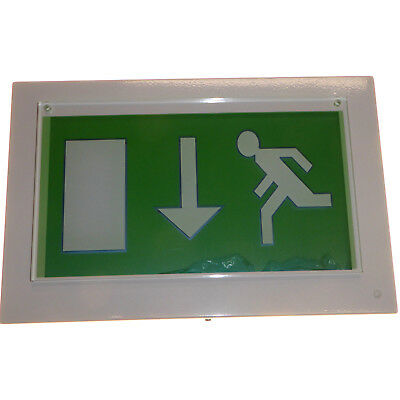2 x LED Escape Exit Running Sign Slim Wall mount 230V white Philips BWC310 new