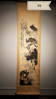 Pan Tianshou Eagle Antique Scroll