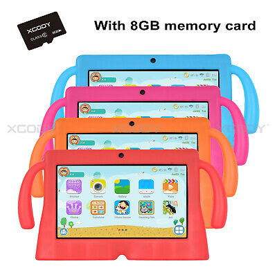 """XGODY 8GB/16GB 7"""" HD Android 8.1 Oreo Tablet PC For Kids 2xMode Educational APPs"""