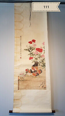 Wang ceremony chicken Antique Scroll