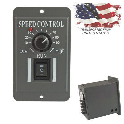 US 12V 24V 36V 48V PWM DC Motor Speed Controller Reversible Switch 6A Regulator
