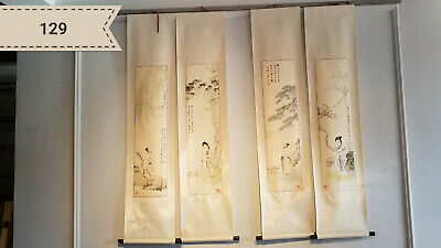 Zhang big four characters screen (4 Scrolls) Antique Scroll