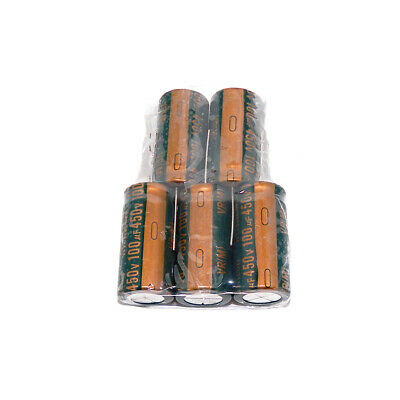 5Pcs 450V 100uF Radial Electrolytic Capacitors Volume 100uF450V 18x40 mm