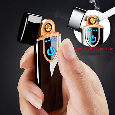 Touch Sensor USB Rechargeable Windproof Flameless Electric Cigarette Lighter l