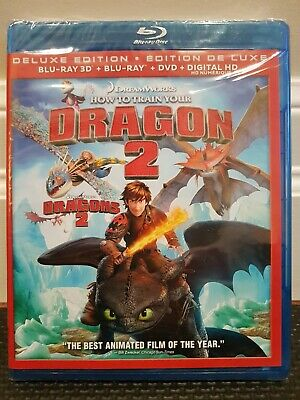 HOW TO TRAIN YOUR DRAGON 2 - 3-Disc DELUXE EDITION BLU-RAY 3D + BLU-RAY + DVD