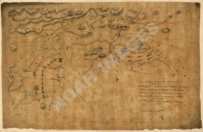 Plan of army camp New Brunswick Bound Brook NJ c1777 repro 24x16