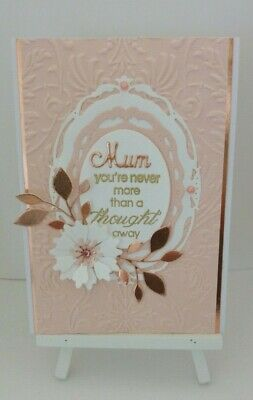 Handmade Mother's Day Card:Never more than a thought away.