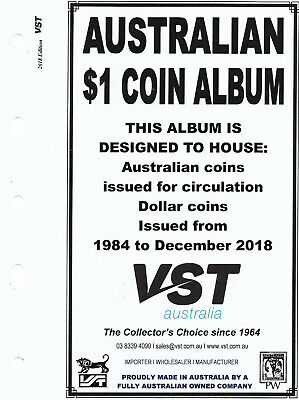 VST AUSTRALIAN $1 Small COIN ALBUM 2018 Update SUPPLEMENT PAGES