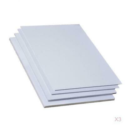 6PCS 200 x 300 x 5mm DIY Craft Model White Foam Sheets Board for Carving