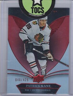 Patrick Kane 2018-19 UD Trilogy Red Parallel 040/425 Chicago