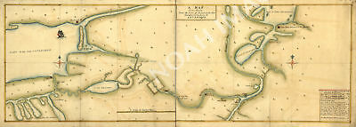 Map of route from Albany to the Fort Osswego NY c1750s repro 36x13.5