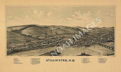 Stillwater New York panorama map c1889 map 24x16