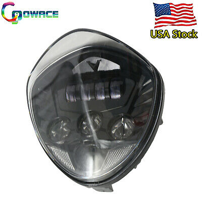 (USA Stock)1PC BLK LED Headlight for victory cross country