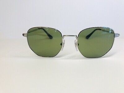 096020d9da New Authentic Persol Green   Silver Hexagon Sunglasses PO2446S Color 518 4E