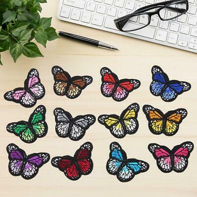 12 x Lot Butterfly Patch for Cloth Iron on Embroidered Sew Applique Fabric Badge