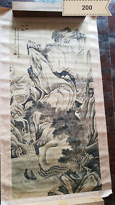Wen  qi   Shan Gao Lu Yuan Antique Painting