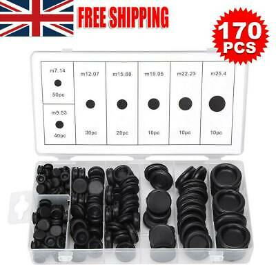 170PCS Assorted Rubber Grommets Blind Blanking Grommet Wiring Firewall Hole Plug