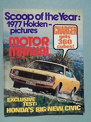 Motor Manual Magazine August 1974 Road Test Charger 360 Ford Escort Xl