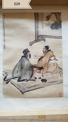 Fu Baoshi Character Film Antique Painting