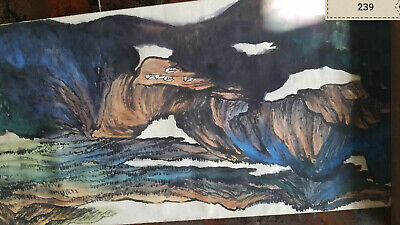 He hai'xia  Landscape Hand Roll Antique Painting