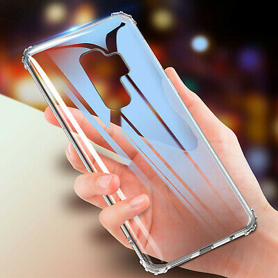 For Samsung Galaxy S10+ S10E Shockproof Bumper Silicone Rubber Clear Case Cover