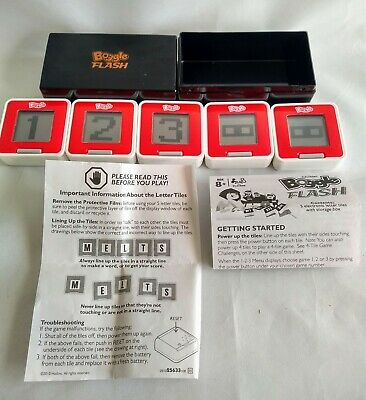 Boggle Flash - Electronic Slide & Shuffle Game by Hasbro. - complete & vgc