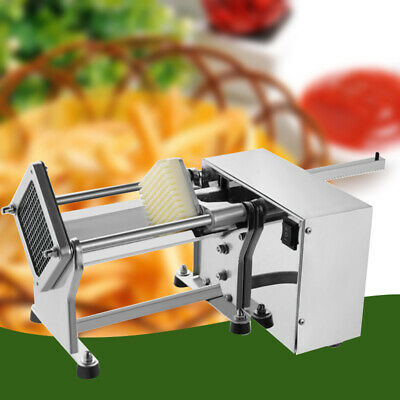 Electric Potato French Fry Fruit Vegetable Cutter Cutting Machine+3 Blades DHL