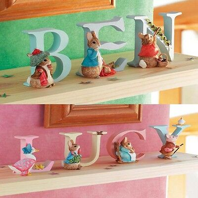 "BEATRIX POTTER ""PETER RABBIT"" ALPHABET LETTERS FIGURINE ORNAMENTS - New in Box"