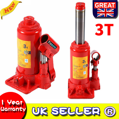 3 TON TONNE Hydraulic Bottle Jack Lifting Stand for Car/Van/Boat/Caravan Local