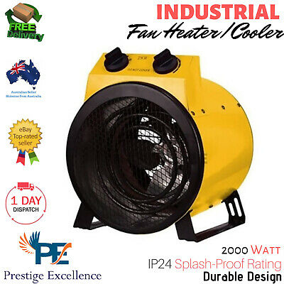 Industrial Fan Heater Electric Workshop Floor Carpet Dryer Blower Shed Garage AU