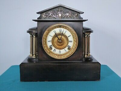Ansonia Cast Iron Chiming Mantle Clock, Working And Keeping Time