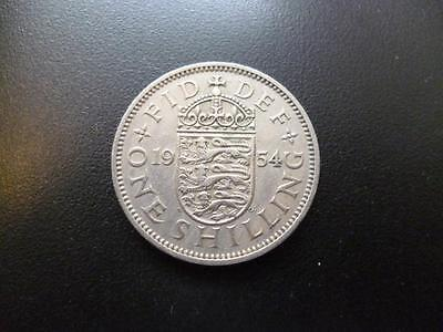 1954 English Shilling Coin In Good Used Condition, Copper Nickel.coin Shown Sent
