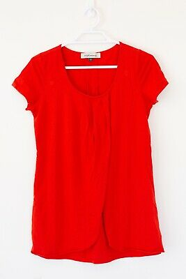 Angel Maternity Women's Breastfeeding Maternity Top Size XS Orange