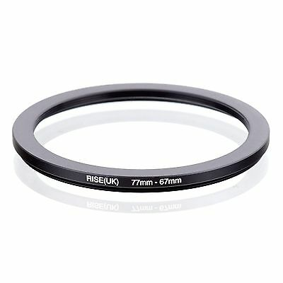 RISE(UK) 77-67mm  77mm to 67mm 77-67  Step Down Filter Ring Matel Adapter