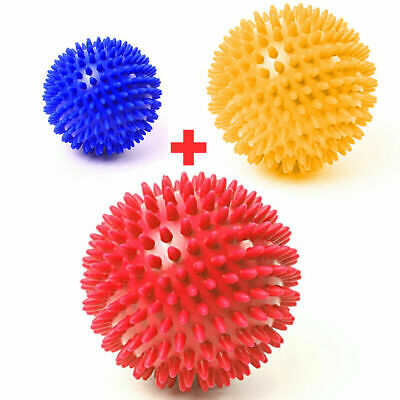 6+8+10cm Yoga Spikey Massage Balls Spiky Trigger Therapy Ball Roller Reflexology