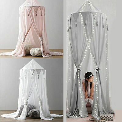 Boy Girls Baby Kids Bed Canopy Bedcover Fairy Mosquito Net Curtain Bed Dome Tent