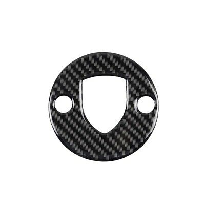 Real Carbon Fiber Steering Wheel Logo Cover Trim Fit For Porsche Macan Cayenne