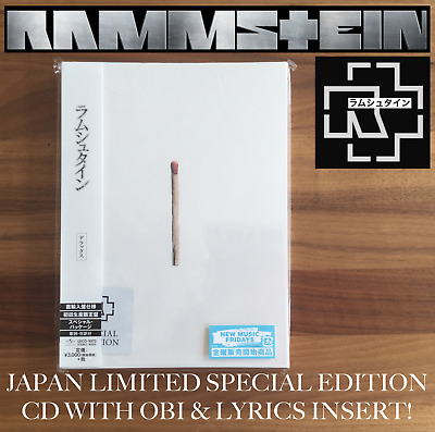 Japan Special Edition Cd With Obi & Lyrics Insert! Rammstein 2019 Untitled Album