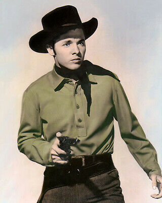 "AUDIE MURPHY THE CIMARRON KID 1952 8x10"" HAND COLOR TINTED PHOTOGRAPH"