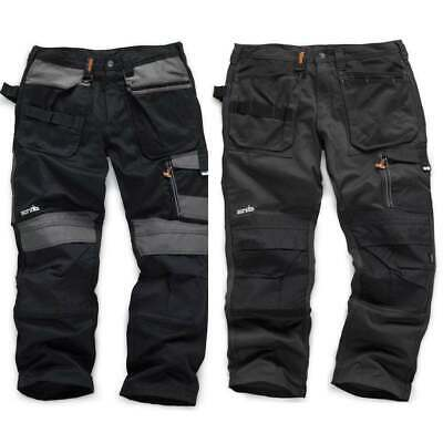 Scruffs 3D Trade Work Trouser Graphite Or Black With Free Knee Pad Or Belt