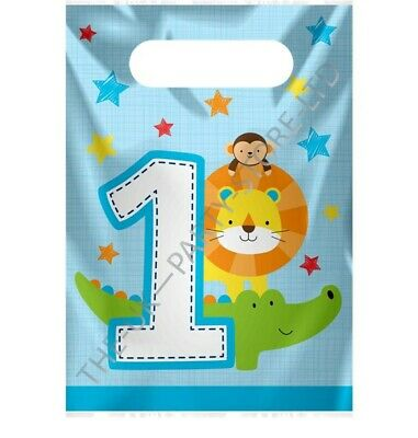 ONE IS FUN BOY LOOT BAGS Birthday Party Supplies Boys Gift Pack Party Kids