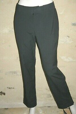 MEXX Taille 40 Superbe pantalon femme noir rayures verticales grises chino