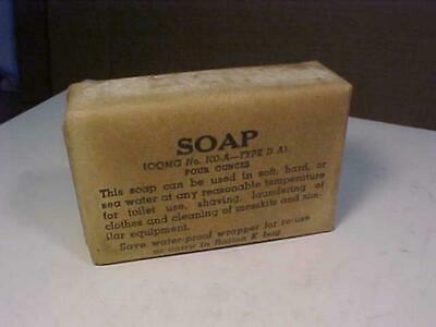 Army Military WW II Ration Type II A Soap mint Dated 1944 (My LAST One!)