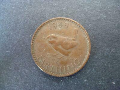 1948 Farthing Coin,  King George The Sixth In Good Used Condition, Bronze.