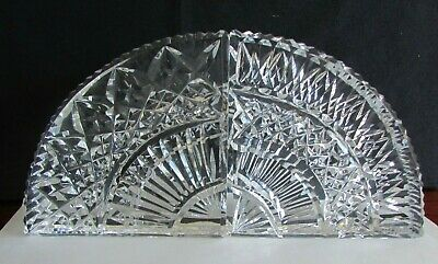 Vintage Waterford Crystal Handblown & Cut Bookends Amazing detail