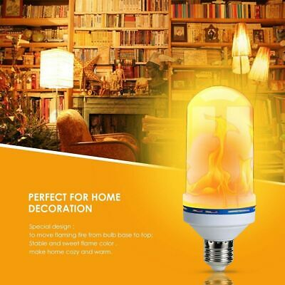 4 Modes LED Flame Effect Simulated Nature Fire Light Bulb E27 6W Decoration Lamp
